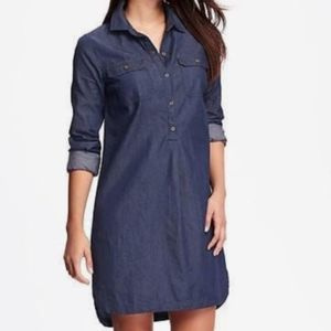 {Old Navy} Chambray Button-Up Mini Dress Sz M